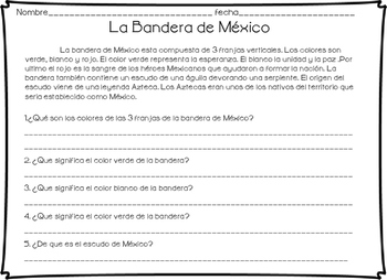 Actividades sobre el 16 de septiembre Independencia de Mexico