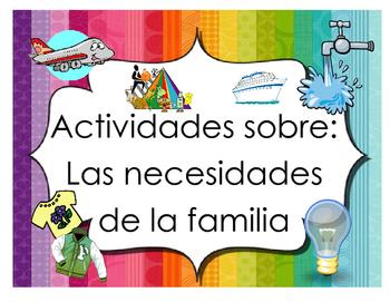 Actividades sobre las necesidades de la familia