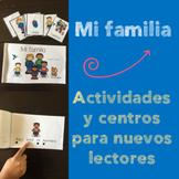 Actividades y centros sobre mi familia