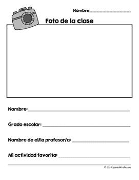 Actividades y escritura Ultima semana de la escuela- Last week of school Spanish