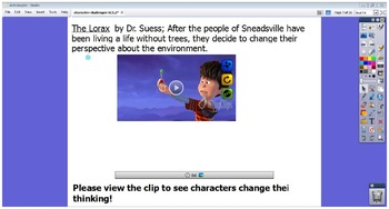 Activinspire Promethean Flipchart for RL5.2 Character Challenges and Theme
