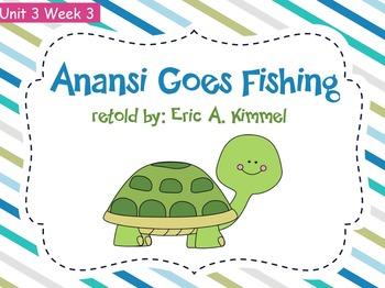 Reading Street Flipchart Common Core Second Grade Unit 3 Week 3 Anansi