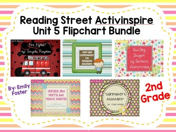 Reading Street Flipcharts Common Core Second Grade Unit 5 Weeks 1-5 BUNDLE!!