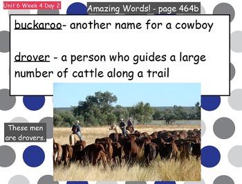 Reading Street Flipchart Common Core Second Grade Unit 6 Wk 4- Cowboys