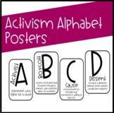 Activism Alphabet Posters