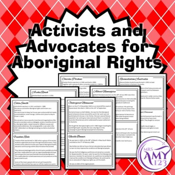 Activists and Advocates for Aboriginal Rights