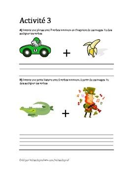 Activité de français - verbes - pronoms