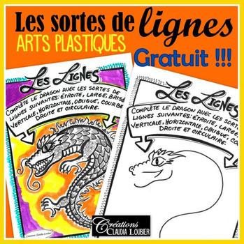Gratuit: révision des lignes, exercices langage plastique, français, arts