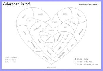 Activitati Valentine's Day pentru clasele 2 si 3 in limba Romana