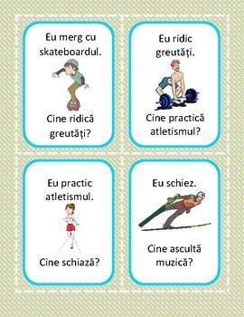 Activitati in timpul liber - ¿Cine face...? - Joc de carti (Romanian)