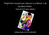 Activité artistique pour enfants : « le Baiser » de Gustave Klimt