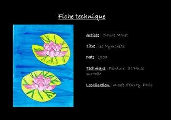 Activité artistique pour enfants : les Nénuphars du peintre Claude MONET