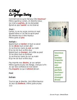 """Activité d'Écoute - Chanson """"C Okay"""" par Le Groupe Swing"""