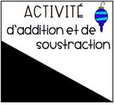 Activité d'additions et soustractions