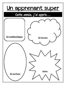 Activité d'écriture - Mon livre de mémoires (End of year writing activity)