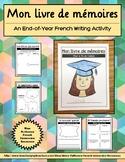 Activité d'écriture - Mon livre de mémoires (End of year w