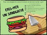 """Activité de lecture """"Fais-moi un sandwich!"""""""