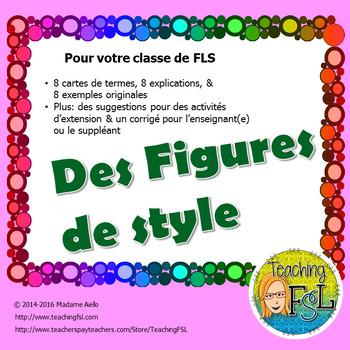 Activité et affiches - Figures de style (French - Literary Devices)