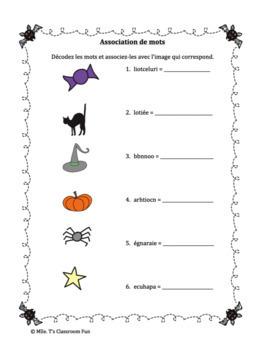 Activités d'Halloween Paquet 1