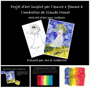 Activités d'art à la manière du peintre français Claude MONET