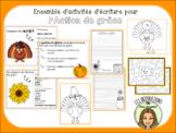 Activités d'écriture Action de grâce FRENCH Canadian Thanksgiving