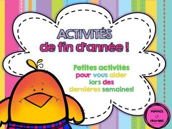 Activités de fin d'année!