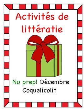 Activités de littératie - Décembre