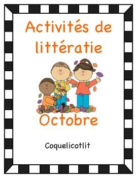 Activités de littératie - Octobre