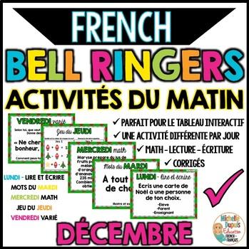 Activités du matin - DÉCEMBRE - French Bell Ringers
