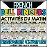 French Bell Ringers Bundle - Activités du matin - Ensemble complet