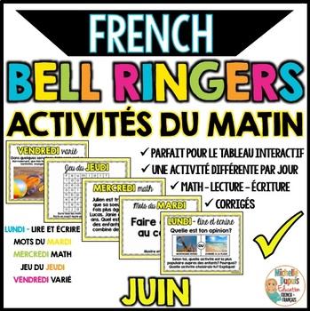 Activités du matin - JUIN - French Bell Ringers