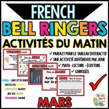 Activités du matin - MARS - French Bell Ringers