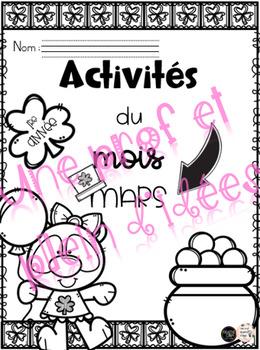 Activités du mois de mars - 1re année