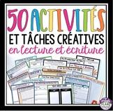 Activités et tâches créatives en lecture et écriture - French Reading Activities