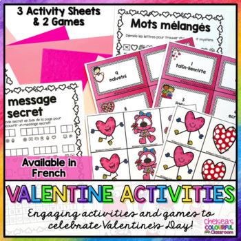 Activités pour la Saint-Valentin (FRENCH Activities for Valentine's Day)