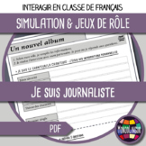 French/FFL/FSL - Role play - 10  interviews