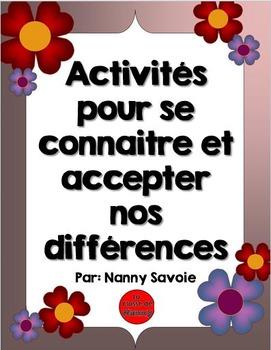 Activités pour se connaitre et accepter nos différences