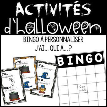 Activités spéciales d'Halloween : Bingo & J'ai... Qui a... ?