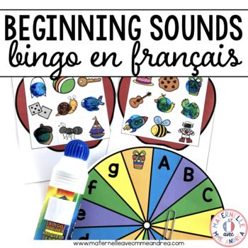 FRENCH Beginning Sound Bingo (Bingo pour le son initial)