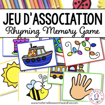 Jeu des rimes - FRENCH Rhymes Matching Game