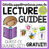 French Guided Reading Game - QU'EST-CE QU'UN(E)...DIT?