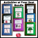 Grammar Folder Games: Activities At Your Seat Bundle