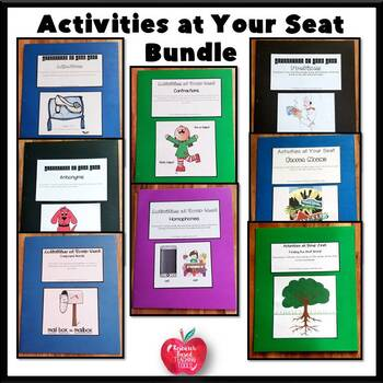 Activities at Your Seat Bundle! Great for independent work..