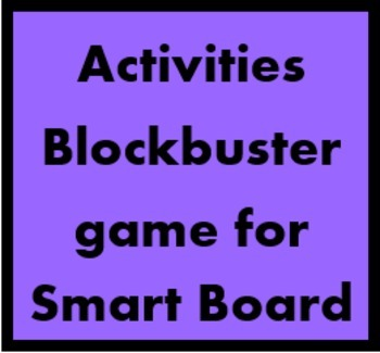 Activities Blockbuster game for Smartboard