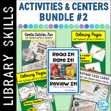 Library Skills Activities & Centers BUNDLE #2 for the Media Center