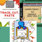 Activities Dinosaur All About Me, Brag Tags, Art and Craft