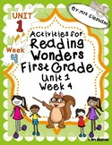 Activities For Reading Wonders First Grade Unit 1 Week 4 Short o