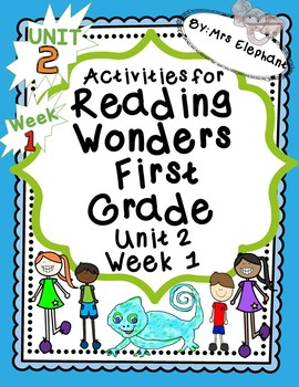 Activities For Reading Wonders First Grade Unit 2 Week 1 Short e