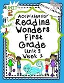 Activities For Reading Wonders First Grade Unit 2 Week 1 Short e