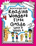 Activities For Reading Wonders First Grade Unit 3 Week 4 l
